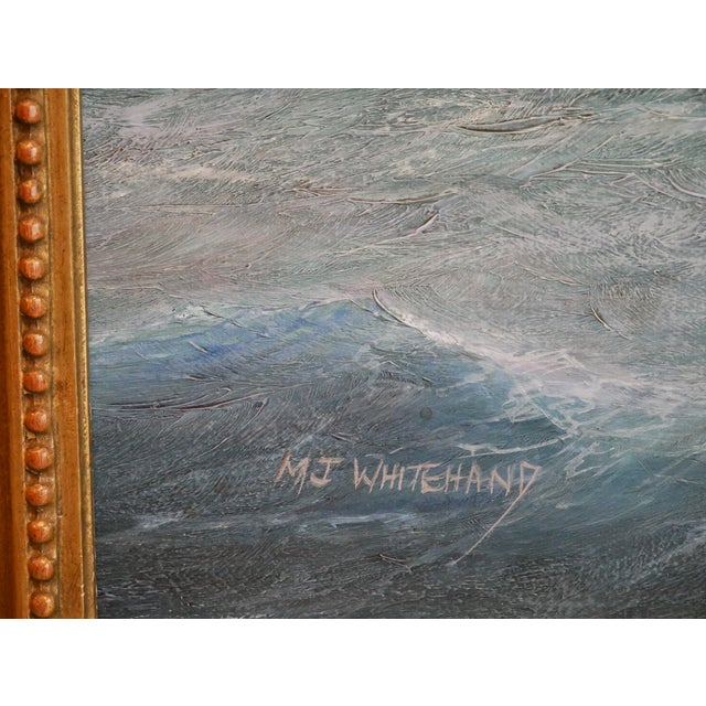 Nautical Yacht Racing Oil on Canvas, M Whitehand For Sale - Image 9 of 9