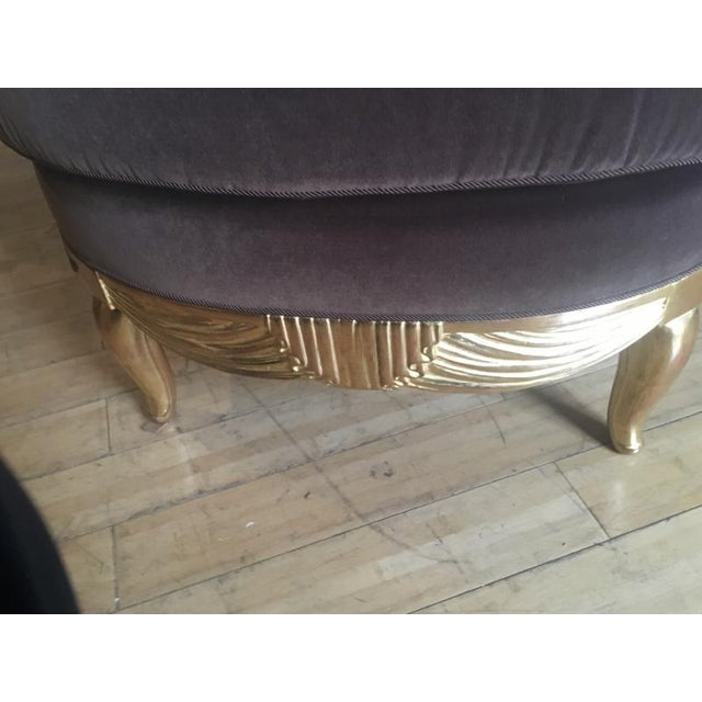 Early French Art Deco Astounding Pair of Gold Leaf Armchairs For Sale - Image 4 of 9