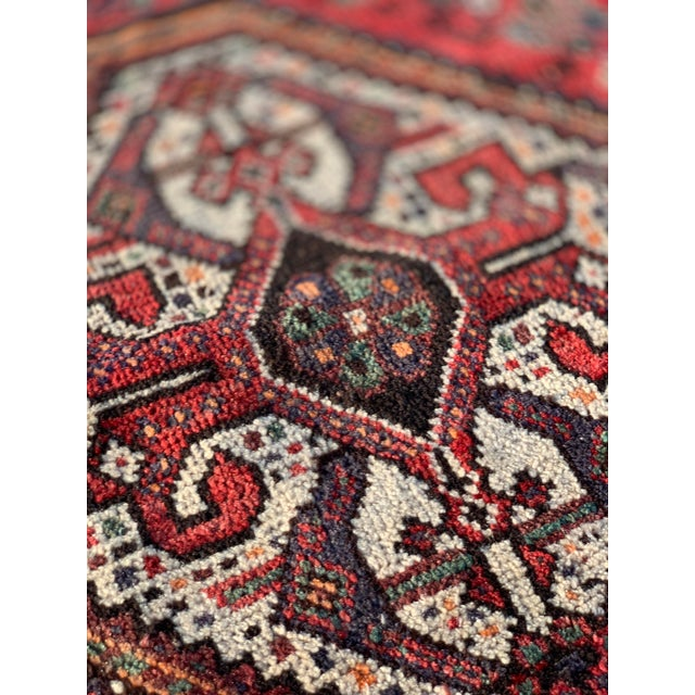 1940s Vintage Persian Qasghi Rug - 5′1″ × 7′10″ For Sale - Image 9 of 13