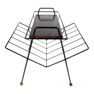 Tony Paul Magazine Rack Tray Table For Sale
