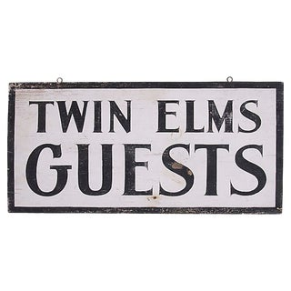 Twin Elm Guests Sign For Sale