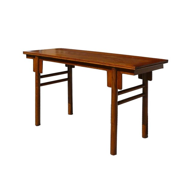 Chinese Natural Wood Altar Console Table - Image 3 of 5
