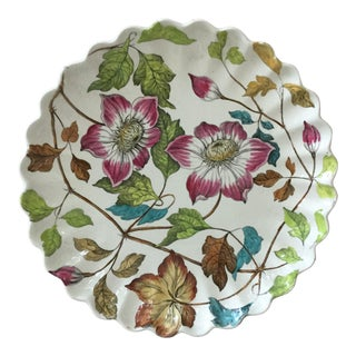 19th Century Copeland English Clematis Plate For Sale