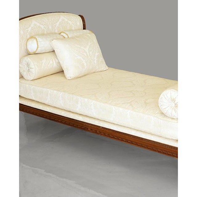 Classical Upholstered Mahogany Daybed For Sale - Image 4 of 5
