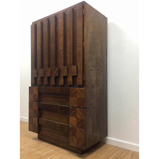 Brutalist Armoire by Lane For Sale - Image 12 of 13