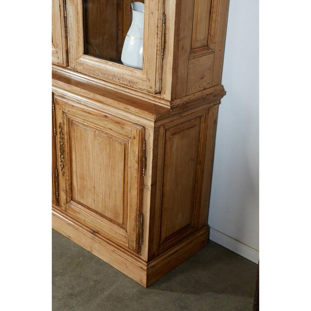 Brass Large French Pine Cabinet/Bookcase For Sale - Image 7 of 8