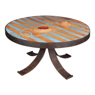 Pia Manu Style Ceramic Table For Sale