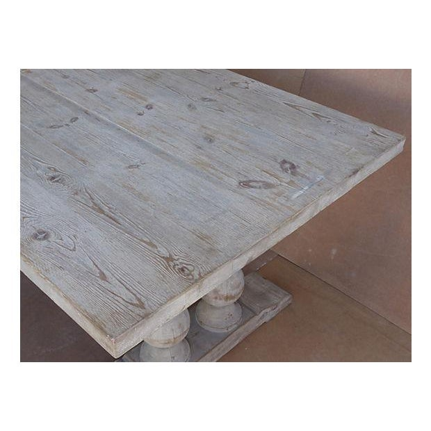 Neoclassical Library Table with Whitewash Finish - Image 7 of 10