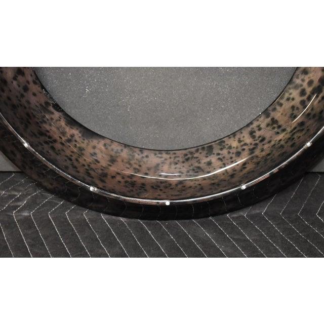 2000 - 2009 Parchment Convex Mirror For Sale - Image 5 of 10