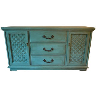Vintage Bassett Distressed Buffet Sideboard