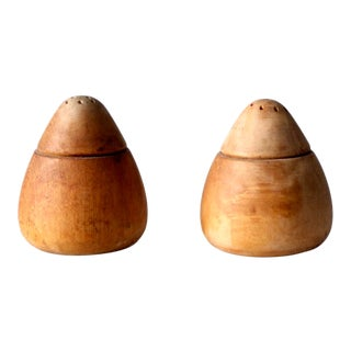 Mid-Century Wooden Salt and Pepper Shakers For Sale