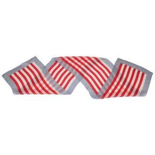 Anne Klein Long Striped Silk Scarf for Vera, Circa 1970 For Sale