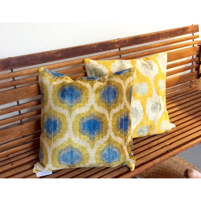 Anatolia Silk Velvet Ikat Pillow - Image 4 of 4