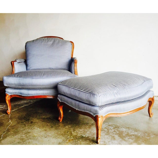 Vintage Heritage Bergere Chair & Ottoman - Image 8 of 10
