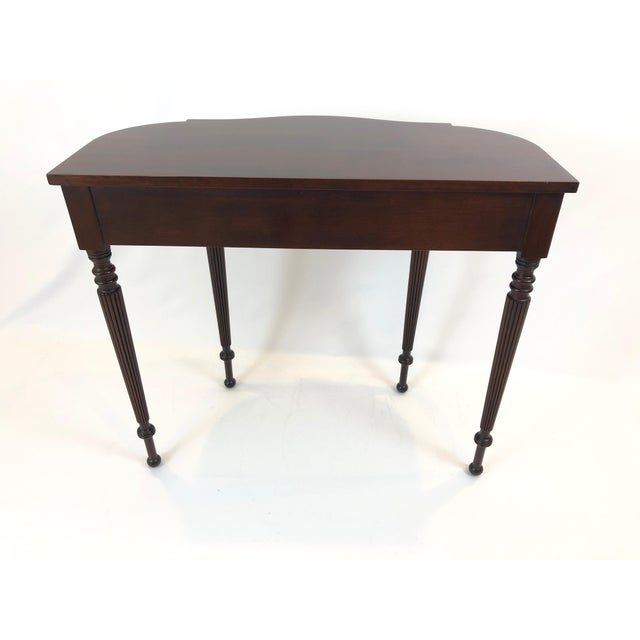 Brown Traditional Federal Style Cherry Console Table For Sale - Image 8 of 9