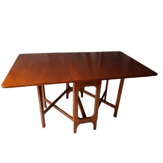 G Plan Mid-Century Modern Teak Drop Leaf Dining Table For Sale