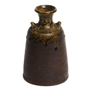 1950s Ceramic Wine Bottle For Sale