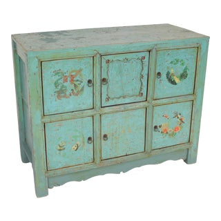 Chinese Painted 6 Door Cabinet For Sale
