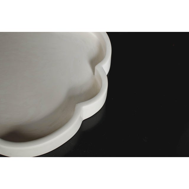Robert Kuo Cloud Design Cream Lacquer Tray by Robert Kuo For Sale - Image 4 of 6