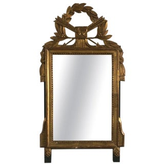 Neoclassical Carved Giltwood Mirror With Hearts and Arrows For Sale