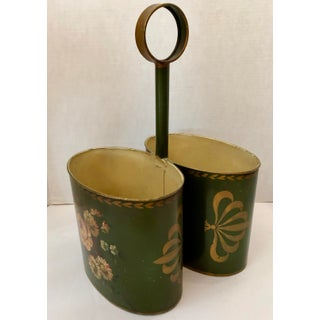 French Hand Painted Tole Double Champagne Bottle Holder, C.1940 Preview