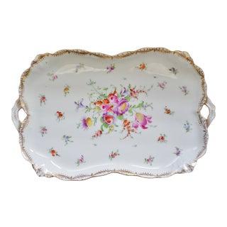 """Antique Dresden Porcelain """"Malmaison"""" Tray For Sale"""
