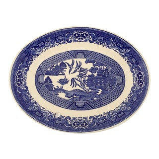Vintage Blue Willow Transferware Serving Platter
