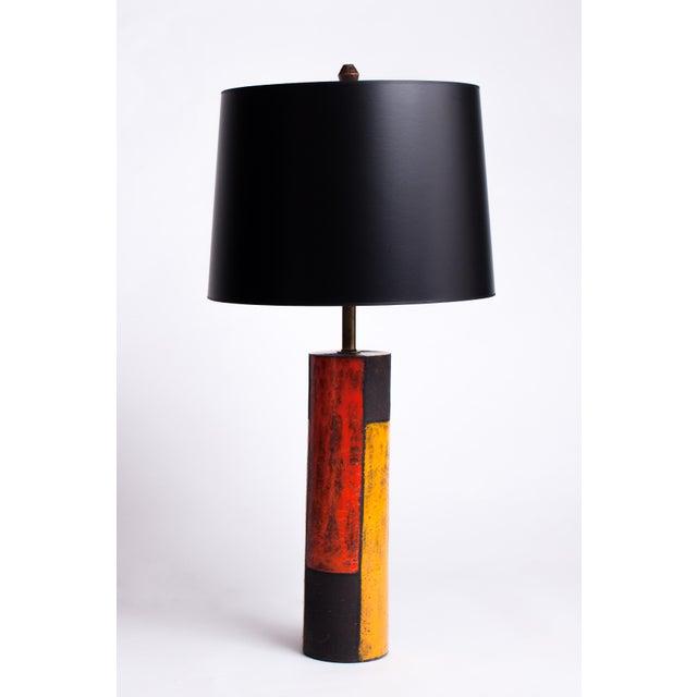 Aldo Londi 1950s Mid-Century Modern Aldo Londi for Bitossi Ceramic Lamp For Sale - Image 4 of 4