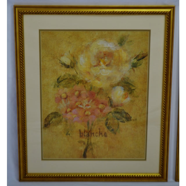 Late 20th Century Vintage Framed French Jaune & Blanche Floral Still Life Prints For Sale - Image 5 of 13