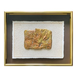 1980s C. Jere Style Copper and Brass Relief Wall Hanging Sculpture For Sale