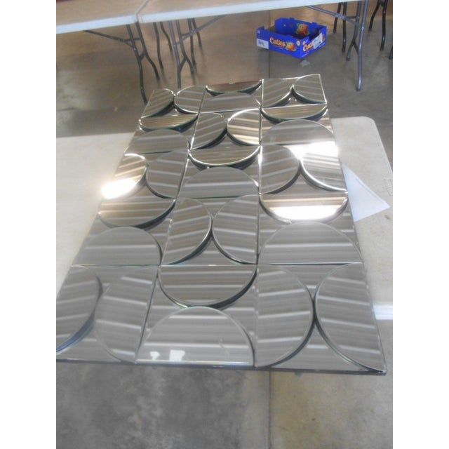 Mid-Century Modern Brutalist Inspired Fish Scales Wall Mirror - Image 4 of 5