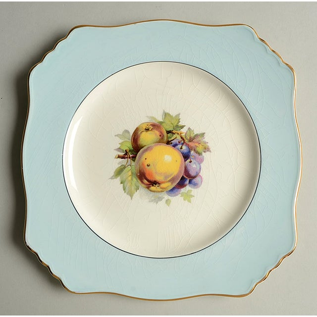 Royal Winton Square Salad Plate Mixed Fruit Motif - Set of 4 For Sale - Image 10 of 12