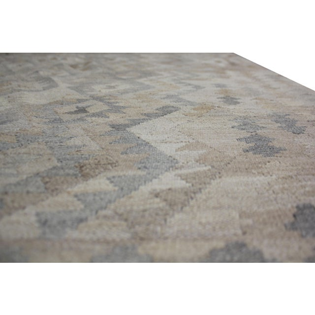 """Hand-Knotted Modern Kilim by Aara Rugs - 9'7"""" x 6'10"""" For Sale In Los Angeles - Image 6 of 6"""