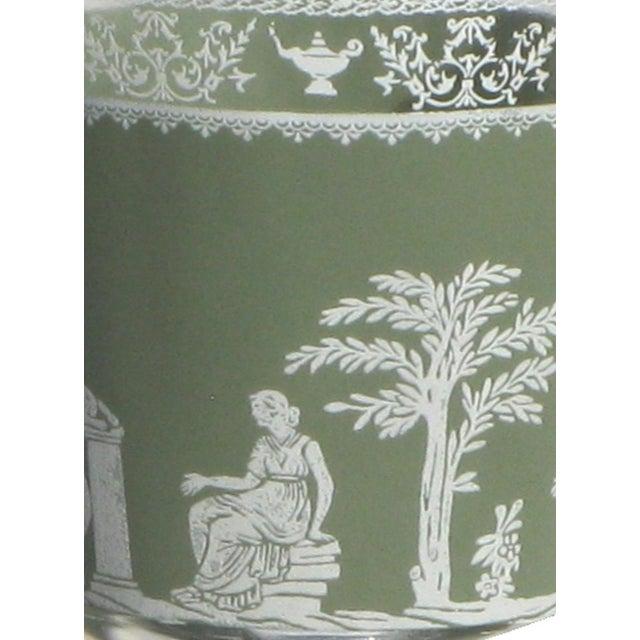 Wedgwood-Style Green & White Glasses - Set of 8 - Image 3 of 3