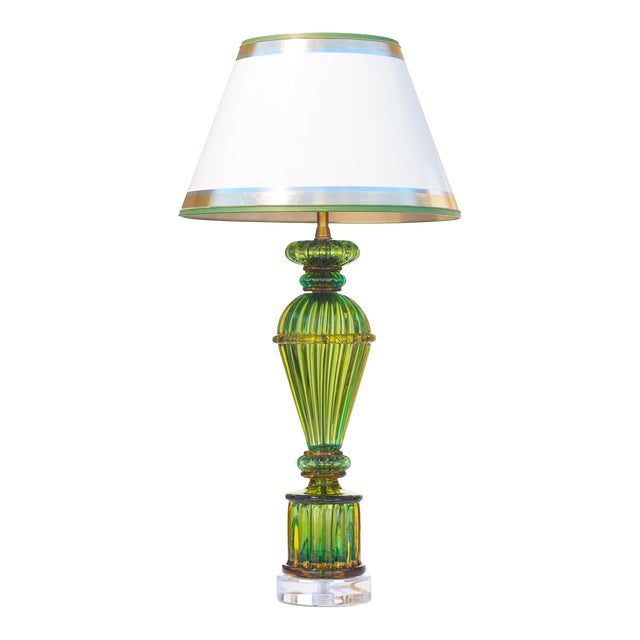 Vintage Murano Glass Lamps - a Pair For Sale