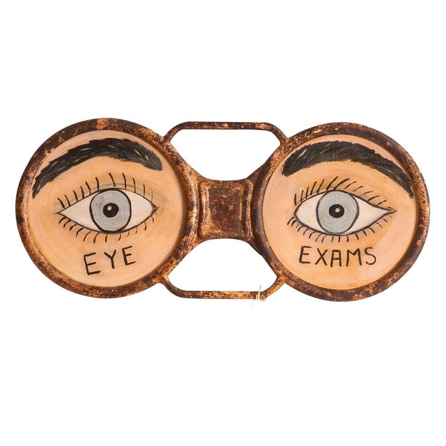 Vintage Eyeglass Sign - Image 1 of 5