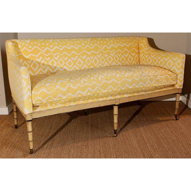 Early 19th Century 19th Century English Upholstered Sofa or Bench For Sale - Image 5 of 9