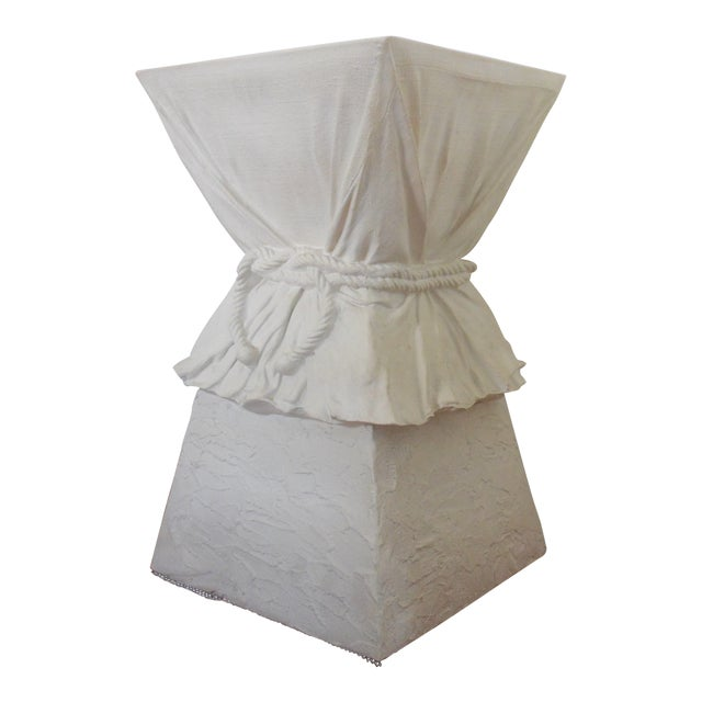 Late 20th Century John Dickinson Atrributed Plaster Draped & Roped Table For Sale