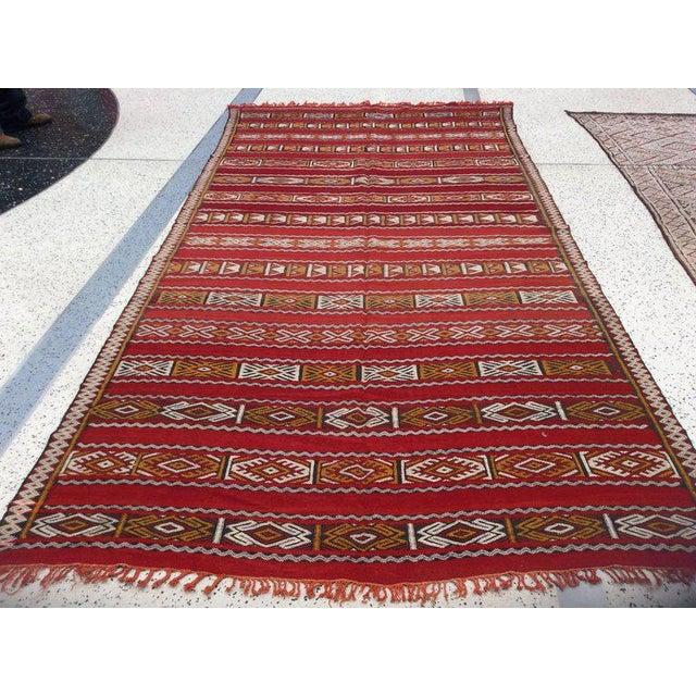 Islamic Moroccan Tribal Design Runner - 5′8″ × 11′4″ For Sale - Image 3 of 5