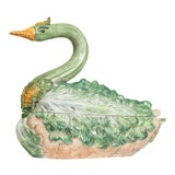 Image of Neiman Marcus Hand Painted Italian Porcelain Soup Tureen For Sale