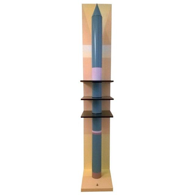 1980s Sculptural Rocket Shaped Floor Lamp For Sale - Image 11 of 11