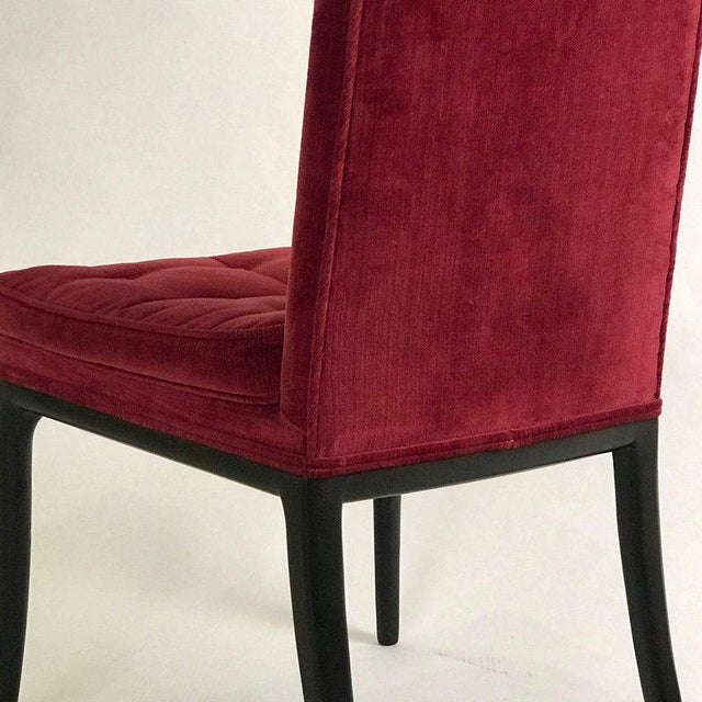 1960s Vintage Original High Back Tufted Erwin-Lambeth for Tomlinson Armchairs- Set of 6 For Sale In New York - Image 6 of 9