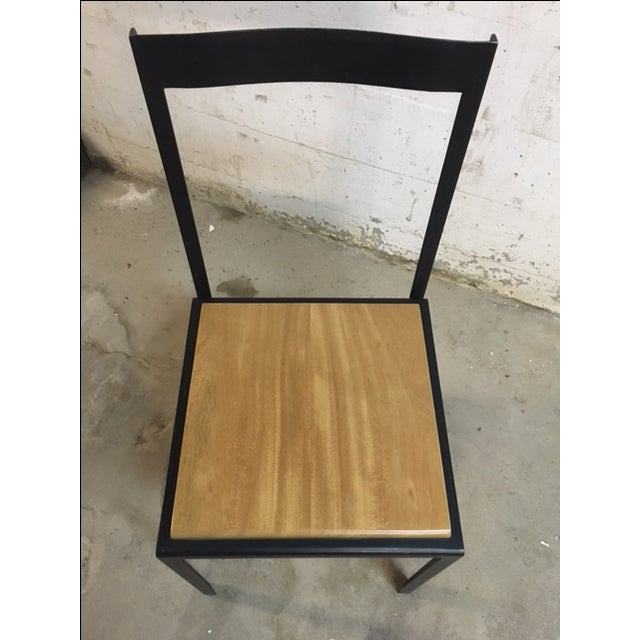 Steel & Wooden Chair by Henry MacNeill For Sale - Image 5 of 6