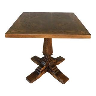 Romweber Viking Oak Pedestal Game or Dinner Table 32 X 32