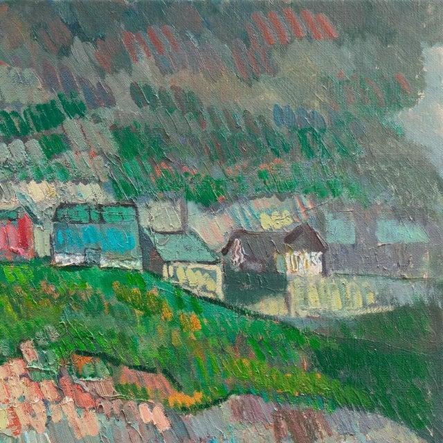 Johannes Carstensen Landscape With Village For Sale - Image 6 of 11