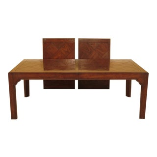Henredon Oak Modern Dining Room Table For Sale