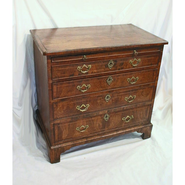 Brown 18th Century English George II Walnut Bachelor's Chest For Sale - Image 8 of 11