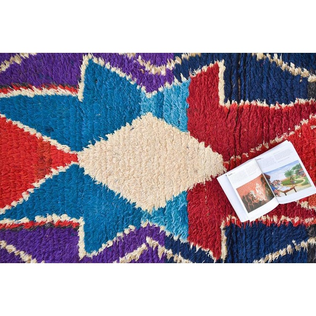 Vintage from the 1970s. The Boucherouite is a style of rug free from traditional models, an exciting visual diary of the...