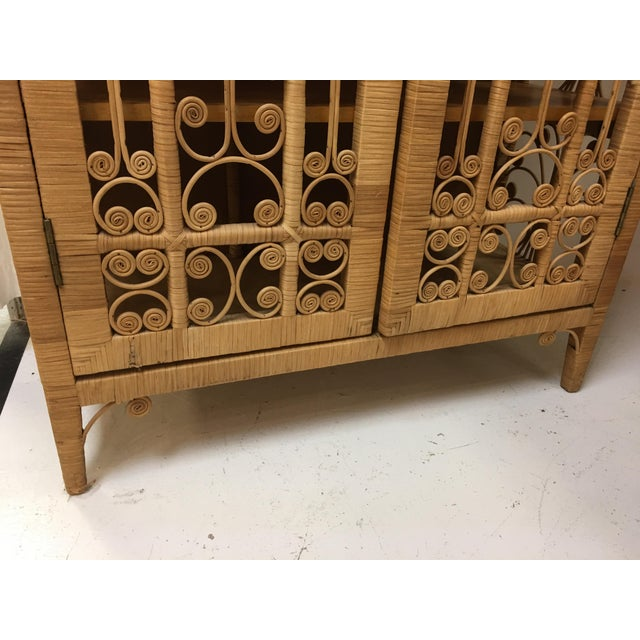 Bohemian Rattan Armoire Cabinet - Image 7 of 10