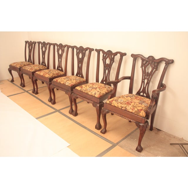 Chippendale Style Dining Chairs - Set of 6 - Image 5 of 11